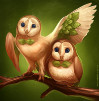 Sun and Moon starters: Rowlet by Static-ghost