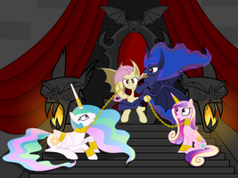 Flutterbat and her court by Magister39