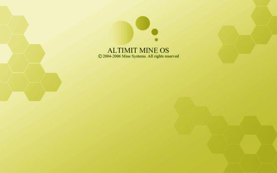 Yellow ALTIMIT Mine OS Wallpaper by Osama35