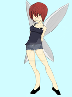 My friend Lexy as a pixie/fairy by mrweirddude