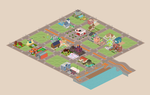 Pixel Art Town Project by vanmall