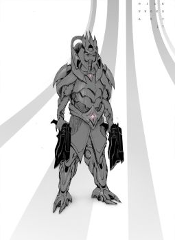 Carry type sketchy concept hero by NickProkoArt