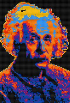 Lego Albert Einstein by tastytuts