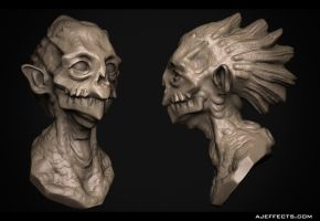Day 14: Monster bust by ajeffects