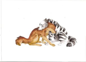 Lycan and Tiger by WolfCanFly