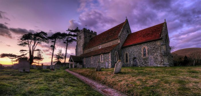 Sunset church by wreck-photography