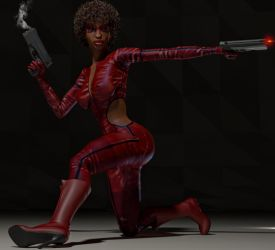 Misty Knight 2nd skin textures for V4 by hiram67