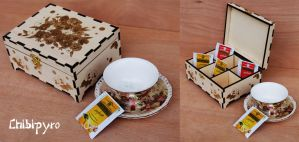 Wooden Tea Box Flower by ChibiPyro