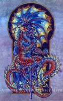 Blues Dragon 02 color by rachaelm5