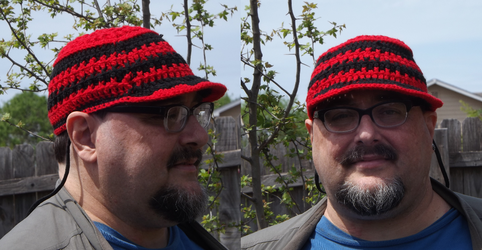 Crocheted Hat with bill