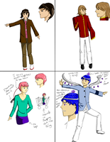Color Models of a Friend's OCs by rothfyae