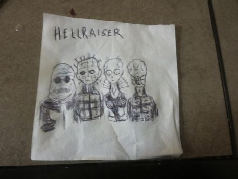 Hellraiser Napkin Sketch by FloppsyProduction
