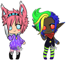 Chibi Adopts 1 - CLOSED by KingConniption