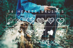 {14 Hearts Brushes} by Poqi