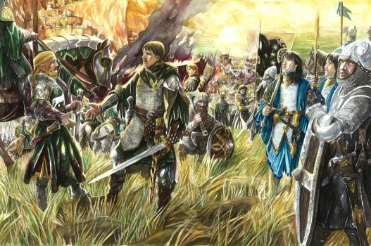 Eomer and Aragorn by AbePapakhian