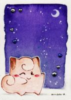 Cleffa and the Moon - ACEO 10