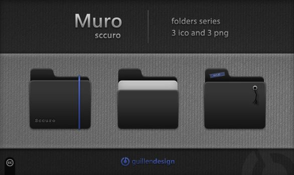 MURO SCCURO Folders by GuillenDesign