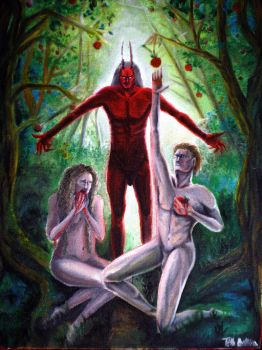 The Tragedy of Man - Garden of Eden [oil painting] by alison90