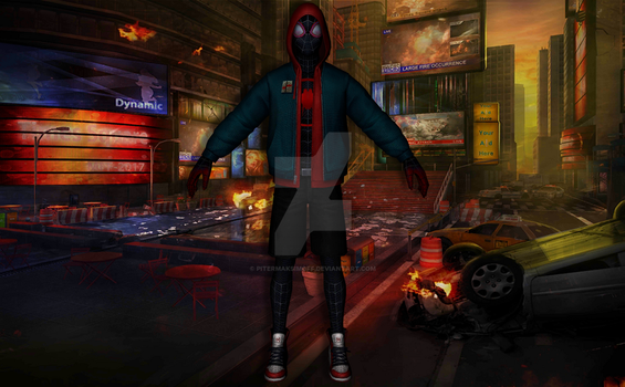 Spiderman Miles Morales (Into The Spider-Verse) by Pitermaksimoff