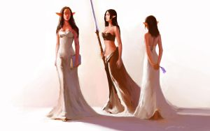 3 Elven Sisters by JerryCai