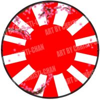Red Sun Button by christi-chan