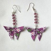Origami Butterfly Earrings by sakuralu83