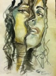 Bellatrix painting with autographs,Tom Felton etc by jessburnett