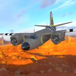 B26 Over a Canyon by VanishingPointInc