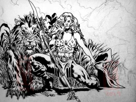 Savage Barbarian Queen by howlett66