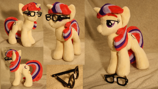 Moondancer with 3D printed glasses by LyrasPlush