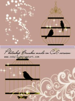 Bird Cage Photoshop Brushes by Coby17