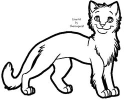Basic male cat lineart by therougecat
