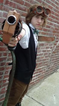 Steampunk Cosplay: Aiming by Desmondeeex