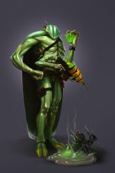 Character Design Challenge - Insect Warrior by didok80