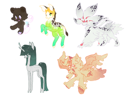 [CLOSED] Special Event Adoptables - Set 002 by Kaylidae