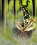 forest queen by TearsofRiku