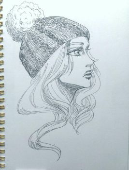 beanie sketch by aliceli87320
