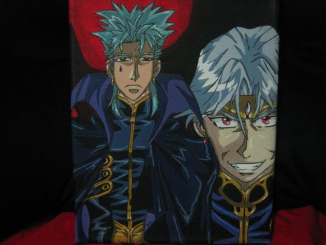 Folken and Dilandau from The Vision of Escaflowne by VeriaLamour