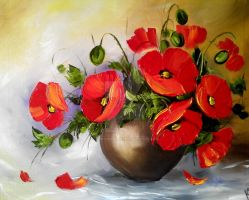 Poppies Oil 2 by YourSummerness