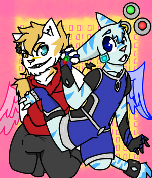 Electric angel WALTT and DENGEN by Koopacake