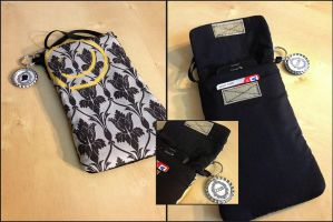 Sherlock Wallpaper Purselet/Electronics Case by Monostache