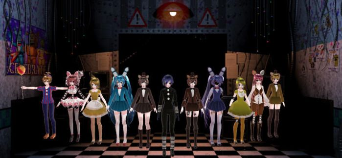 MMD Five Nights at Freddy's 2 by Deathbringerr1