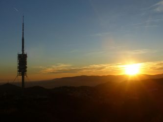Sunset Torre de Collserola by LPik