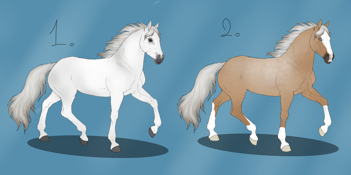 German Riding Pony Adopts |1/2 Open by NorthernMyth