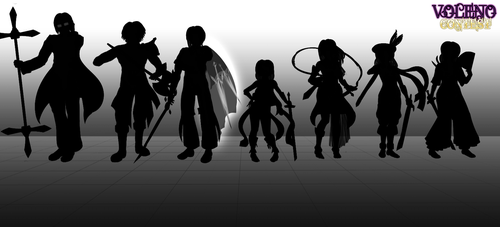 [Characters] Contest Silhouettes by Voleno