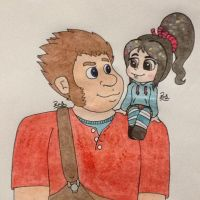 Ralph and Vanellope ~ Best Friends by PilloTheStar