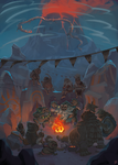 Art of the Wild - goron campfire by manabreakfast