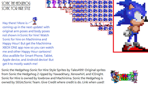 Sonic for Hire- Sonic the Hedgehiog Sprites V1 by Tales499