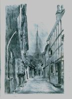 Ledbury Ley (sketched in pencil) by nosuchthingasnothing