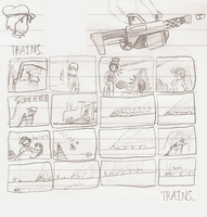 Sketches from York 04 - Trains. by Flashkirby-99